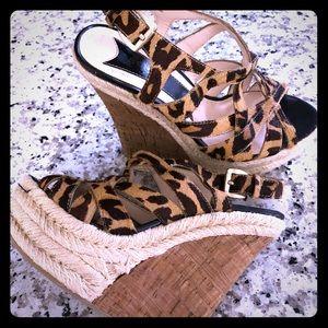 Shoes - Cheetah print wedge